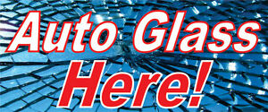 "30"" x 72"" Auto Glass Here Vinyl Banner Sign Store Flag Poster BN1003elm"