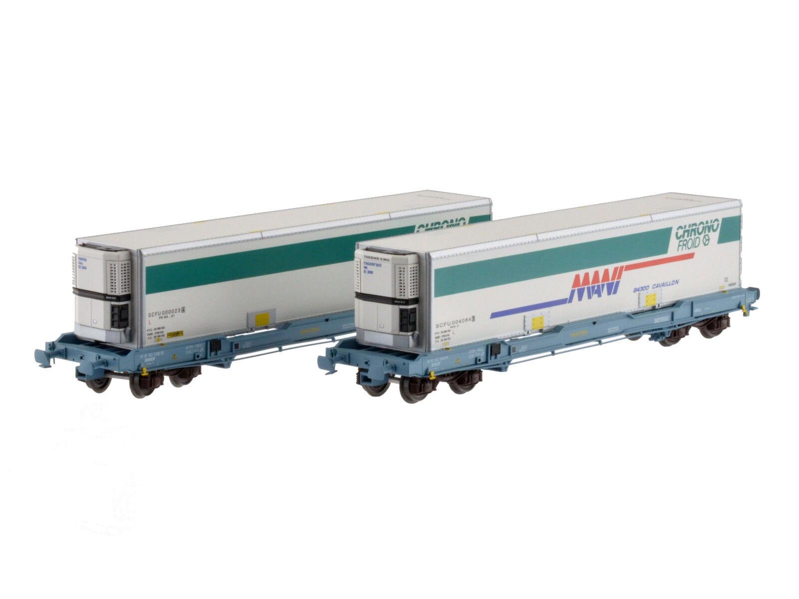 Ls Models 30308 SNCF 2x 4 alineación containertragwag KC Nova trans 40' chronofroid ep5