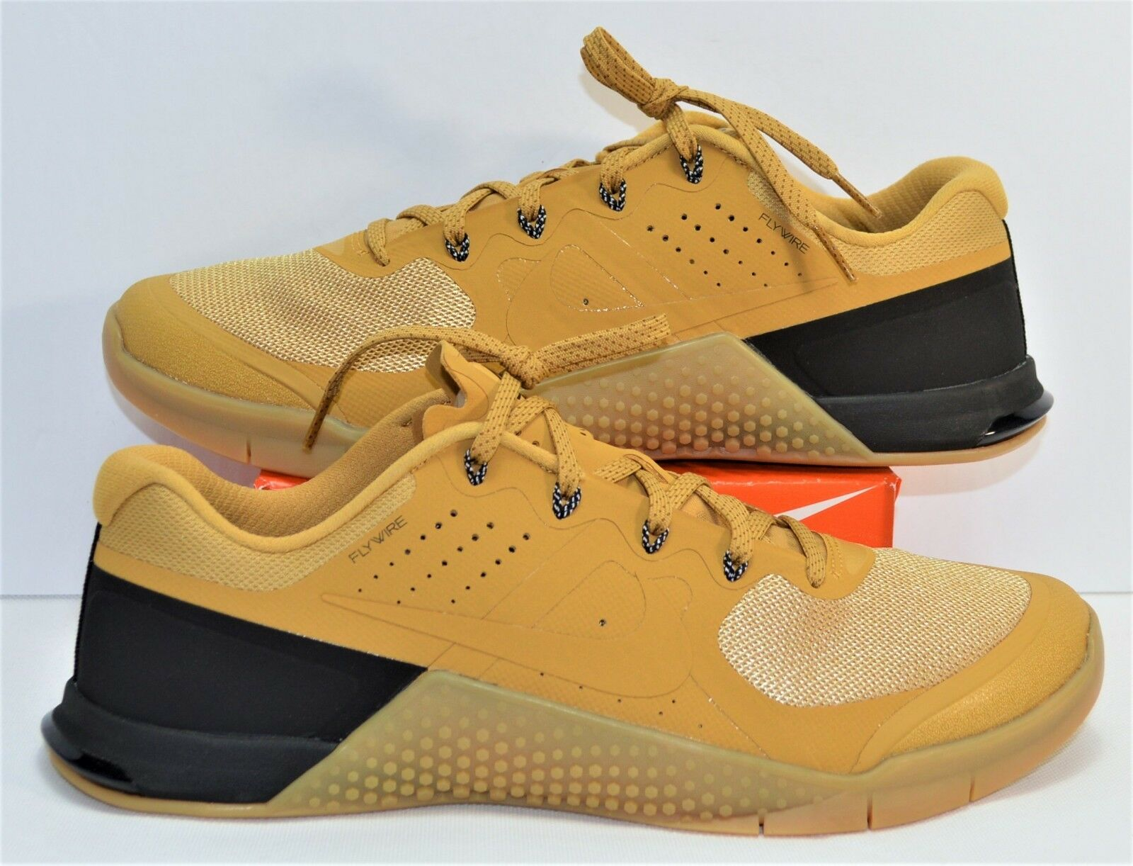 e37779aa73 Nike Metcon 2 Wheat & Gum Cross Fit Training Running shoes Sz 11 NEW 819899  702