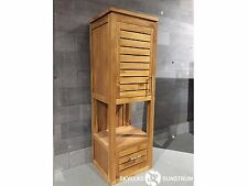 Teak hanging bathroom storage column