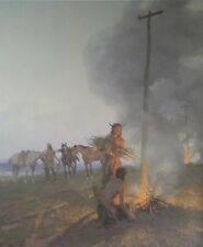 Fires Along the Oregon Trail By Tom Lovell