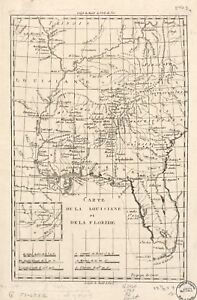 Map Of Florida With Cities And Towns.Details About A4 Reprint Of American Cities Towns States Map Louisiana Florida