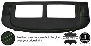 GREEN-STITCH-REAR-PARCEL-SHELF-REAL-LEATHER-COVER-FOR-MERCEDES-S-CLASS-SEC-W126