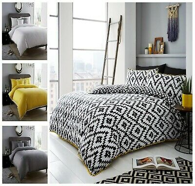 NEW LUXURY SAVOY REVERSIBLE COMFORTABLE DUVET COVER SET WITH PILLOW CASE