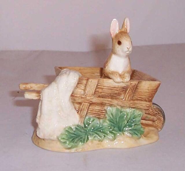 Border Fine Arts  Beatrix Potter Ceramic Figurine : A9810 Peter & Wheelbarrow
