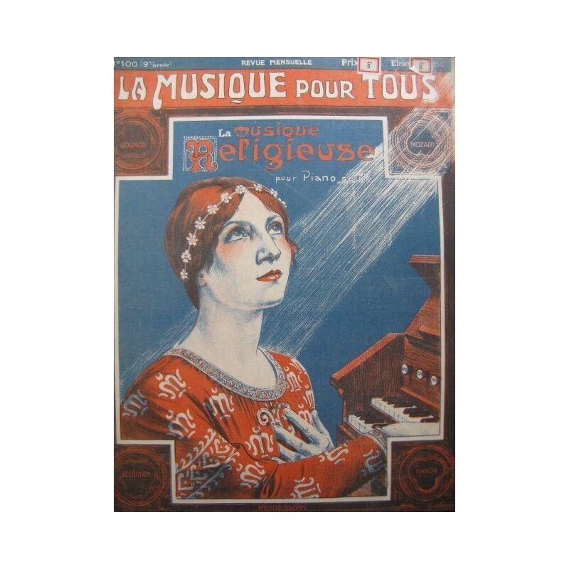 Die Musik religiöse für Piano seul ca1915 Partitur Sheet Music Score