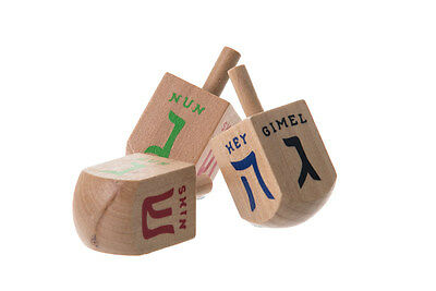 1 Medium size Wooden Dreidel. . . .Jewish gift Spinning Chanukah Judaica present