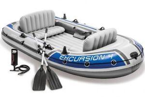 INTEX-Excursion-4-Schlauchboot-Angelboot-Aussenbordmotor-Heckspiegel-68324NP