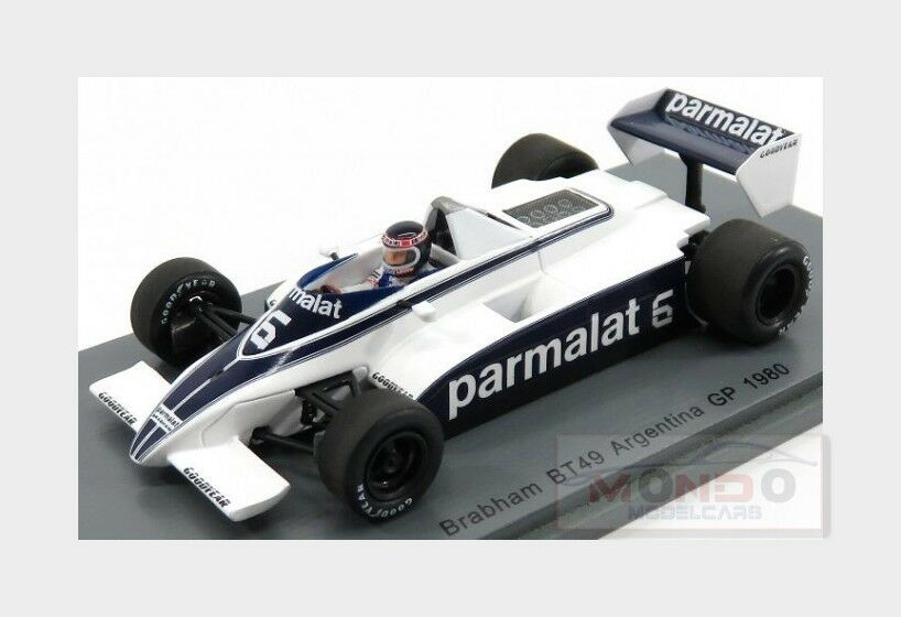 Brabham F1  Bt49  6 Argentina Gp 1980 Ricardo Zunino SPARK 1 43 S4791