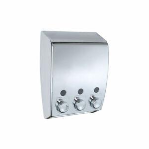 WENKO-3-Kammer-Seifenspender-Seifendosierer-Shampoo-Spender-unbenutzte-B-Ware
