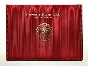 2019-Folder-Vatican-Vaticano-90-Patti-Lateranensi-Francobollo-Stoffa-LE-20-000