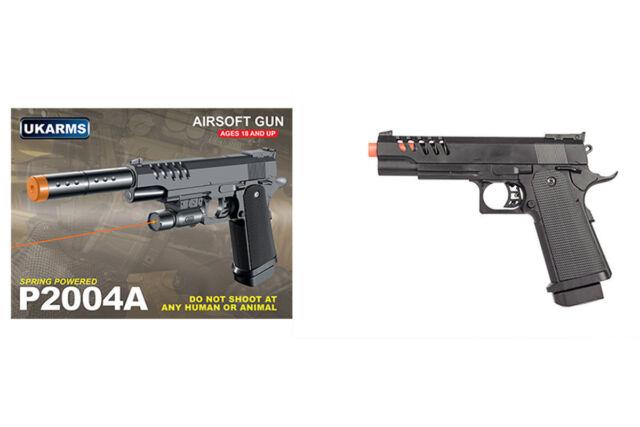 Uk Arms P2218b M1911 Spring Airsoft Pistol Black 30951 For Sale Online Ebay