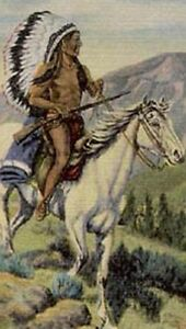 1938-DUDE-LARSON-NATIVE-AMERICAN-INDIAN-CHIEF-POSTCARD-NOW-ON-SALE-PC5935