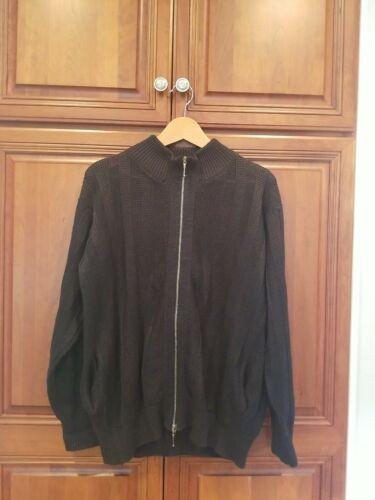 Inis Meain Mens Black Full Zipper Long Sleeve Waff