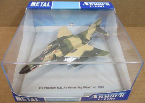 "F2 Armour F-4 Phantom U.S Air Force ""Mig Killer"" Aircraft Die-Cast 1:100 NEW"