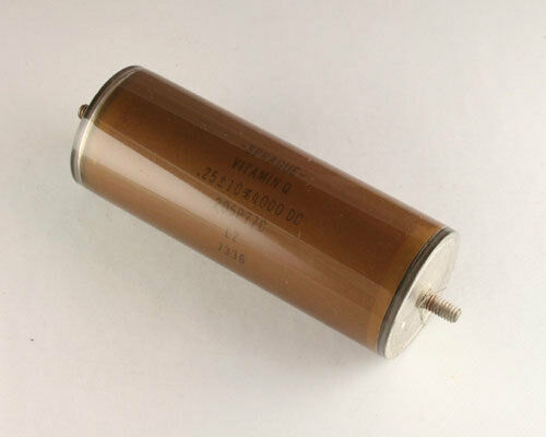 New Sprague 0.25uF 4000V DC Vitamin Q High Voltage Oil Capacitor American Made