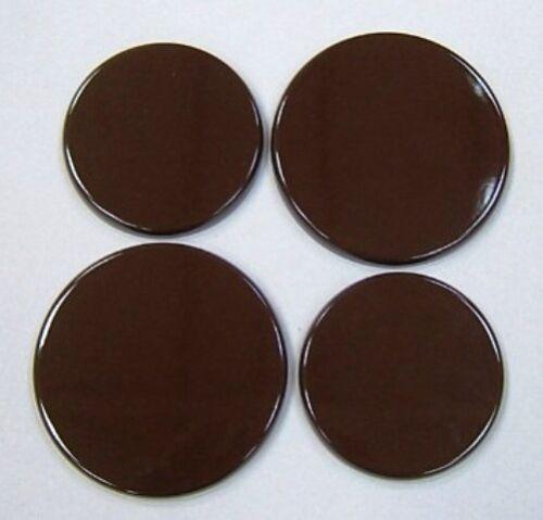 Nouveau Set x 4 marron émail électrique Four et plaque de cuisson Couvre