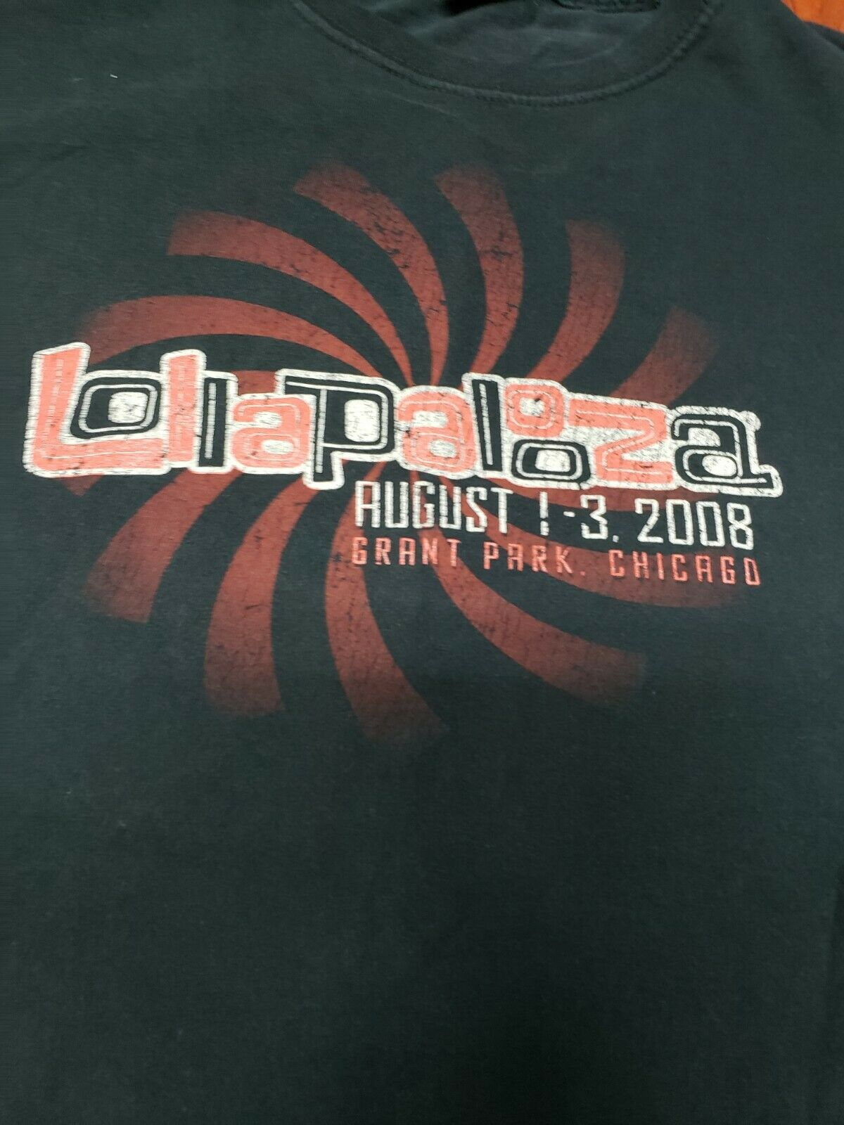 Lollapalooza T-Shirt 2008 Radiohead Rage Against … - image 4
