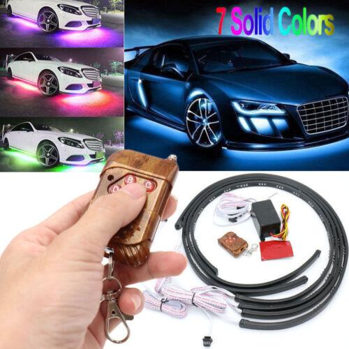 1-6Pcs LED Strip Color Under Car Tube Underglow Underbody System Neon Lights Kit