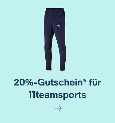 20%-Gutschein* für 11teamsports