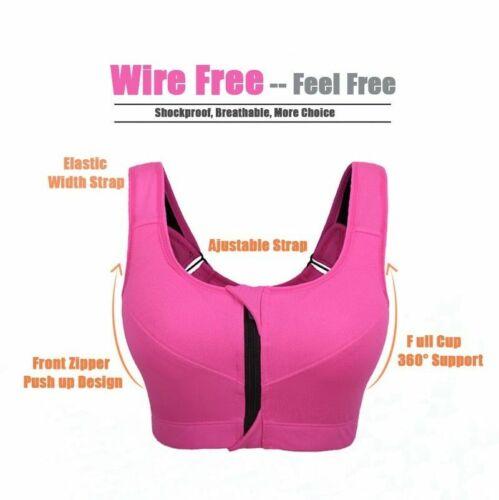 Women Plus Size Soft Bra Button Front Wireless Push Up Breathable Vest Brassiere