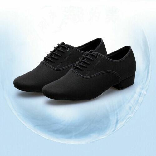 Men Modern Dance Shoes Adult Latin Tango Ballroom Shoes Low Heel Soft Bottom New