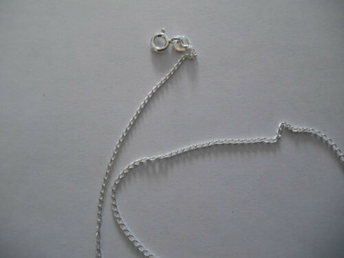 STERLING SILVER 16 INCH OPEN CURB CHAIN 1.25MM WIDE 1.44GMS REF S173//16