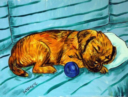 BORder terrier dog  8.5x11 bedroom  PRINT sleeping dog new
