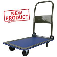 Folding Platform Dolly Cart Portable Wheels Trolley Push Behind Mover Heavy Duty