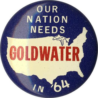 5320 1964 Barry Goldwater Prescott Arizona Campaign Launch 1-Day Event Button