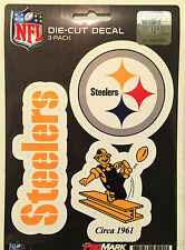Pittsburgh Steelers Set of 3 Die Cut Decal Stickers Retro Logo Free Shipping NFL