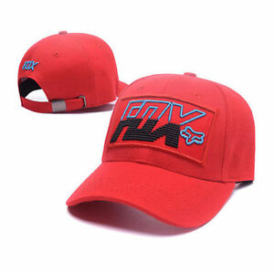 FOX-Adjustable-Snapback-Baseball-Cap-Red-One-Size-Fits-Most