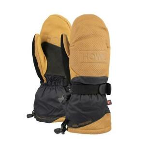 2019-NWT-HOWL-FORMER-MITTS-M-Brown-primaloft-insulation-goat-leather-palm