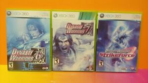Dynasty-Warriors-6-7-Strikeforce-XBOX-360-Games-Rare-Lot-Tested-Working