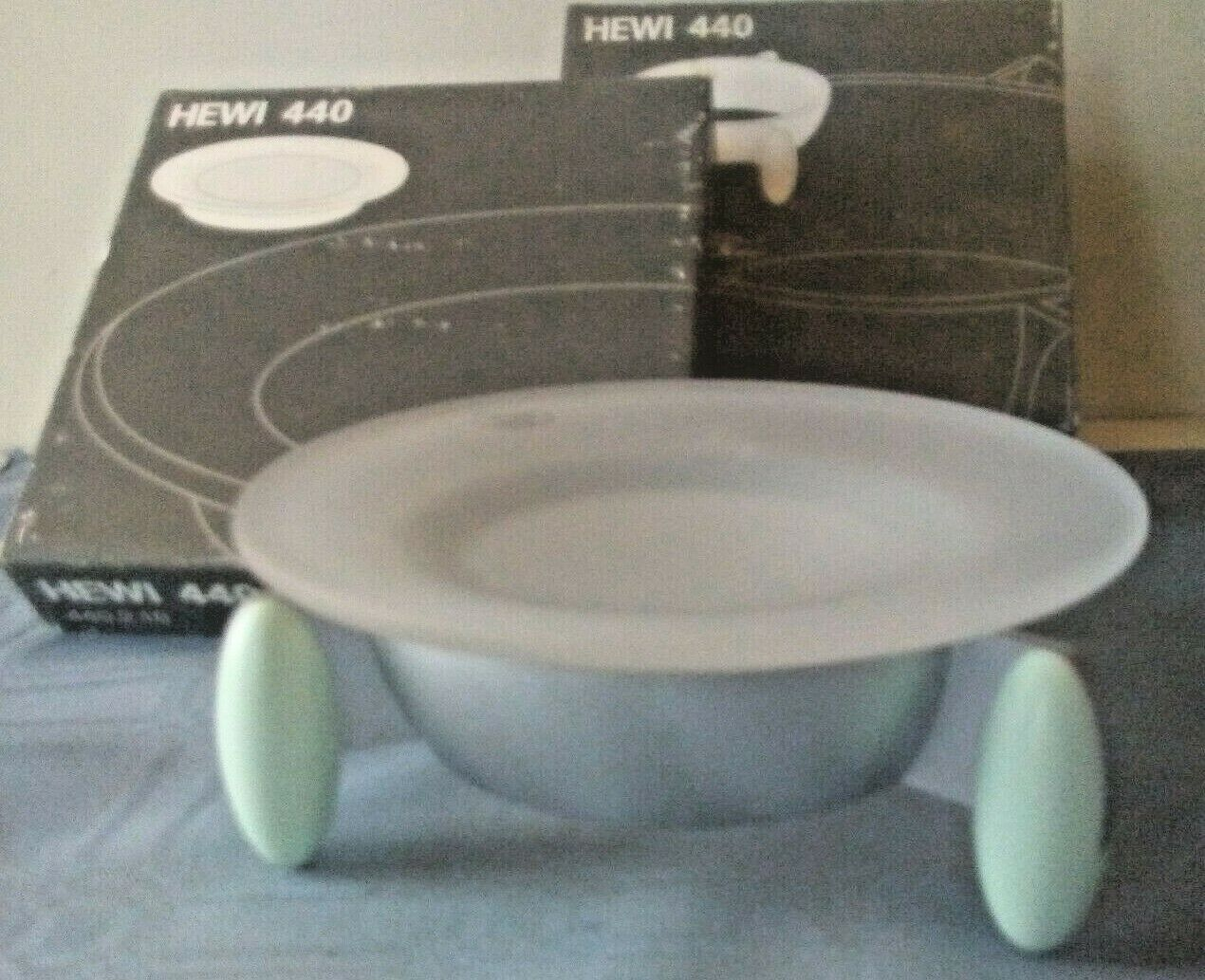 IHewi 440 Soap Dish Holder,/Dish, Euro Style No. 440.2.200, Teal Accent, NIB
