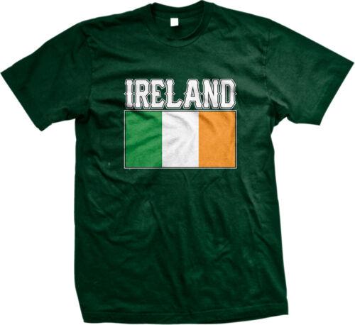 Ireland Flag Colors Font Irish Country Soccer Heritage Team IRL Men/'s T-Shirt