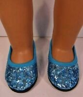 Blue Princess Shoes For 18 American Girl Doll Elsa, Fits 18 Inch Dolls,journey