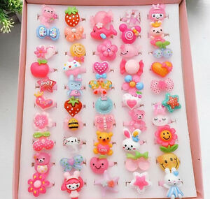 20Pcs-Lot-Wholesale-Mixed-Lots-Cute-Cartoon-Children-Kids-Resin-Rings-Jewelry-FN