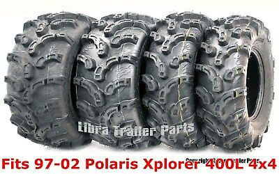 Set 4 WANDA ATV tires 25x8-12 /& 25x11-10 for 96-08 Polaris Sportsman 500 P350