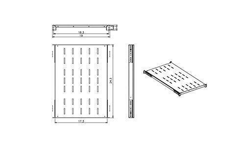 "4Pcs Fixed Rack Server Shelf 1U 19/'/' Shelves Rack Mount Adjustable 21/""-28""depth"