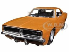 1969 DODGE CHARGER R/T ORANGE 1/25 DIECAST CAR MODEL BY MAISTO 31256