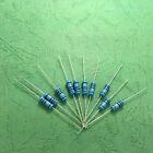 10pcs 1W 1 W Metal Film resistor 1% 0.1/0.15/0.5/0.82/1/2.4/3/4.3/4.7/5.1 OHM