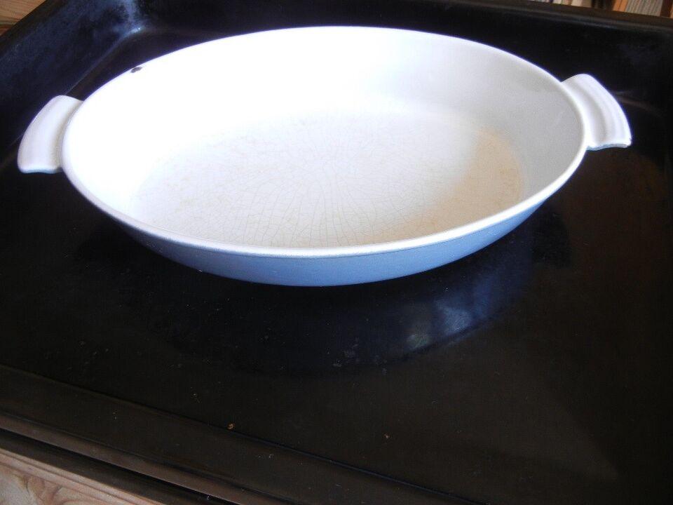 Andet, 2 støbejernsfade til ovn, grill m.m