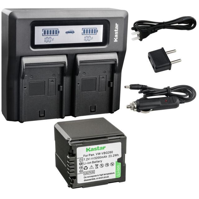 Kastar Battery LCD Fast Charger for Panasonic VW-VBL090