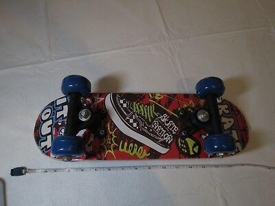 "Skate it out nation mini 17"" skateboard board wheels trucks NOS damaged check"