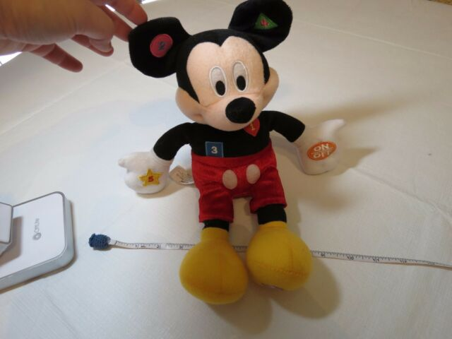 Kcare Kiu Hung educational Mickey Mouse interactive plush talking shapes numbers