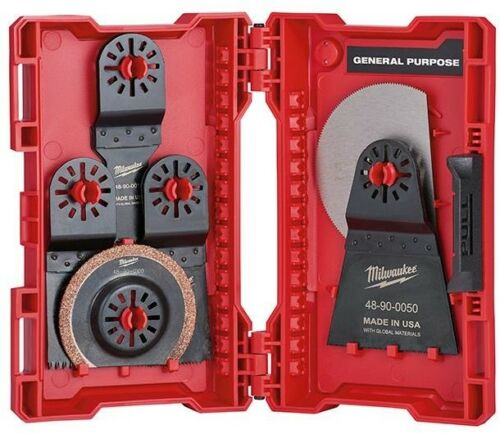 Milwaukee Oscillating Multi Tool Blade Kit Wood Hardwood Power Cutting 9 Piece