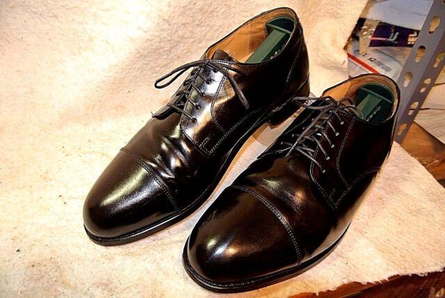 Stafford Executive Comfort  Black Leather Oxfords dress Shoe`s Men`s 10 D/B