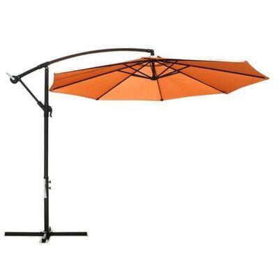 3M Garden Umbrella Outdoor Cantilever Shade Yard Deck Patio Market Tan