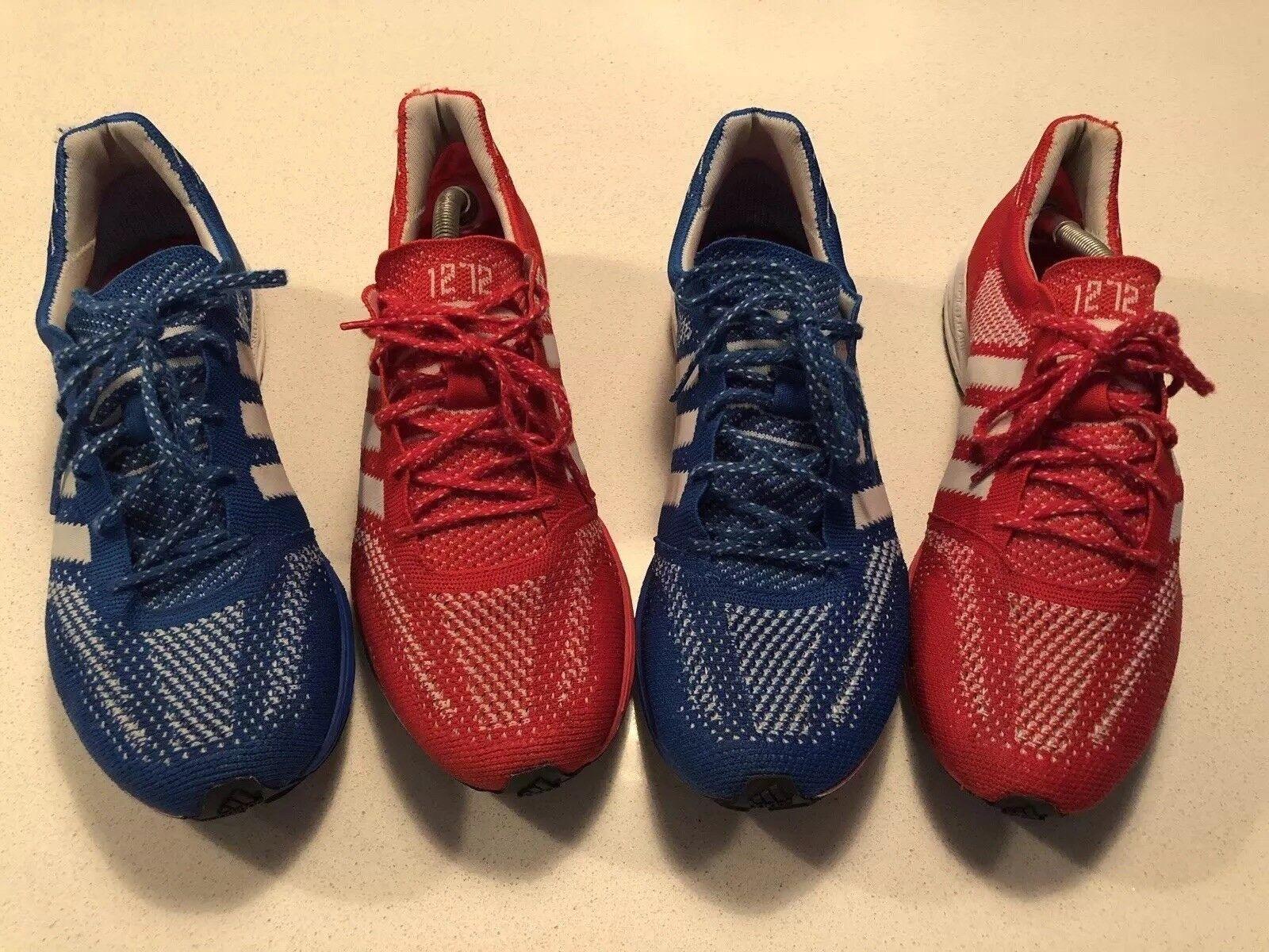 X2 pairs adidas ADIZero PrimeKnit 2012 Olympics TeamGB No.1272 UK7 RARE Boost